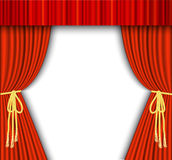 Theater stage with red curtain. Stock Photography