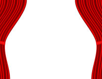 Theater stage with red curtain white background Royalty Free Stock Photo