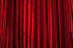 Theater stage red curtains Stock Images