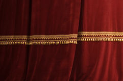 Theater stage red curtains with light and shadow Royalty Free Stock Image