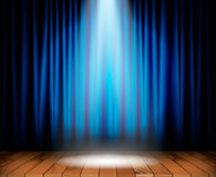 Theater stage with wooden floor Stock Photography