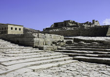 Theater stairs in Knossos, Crete Royalty Free Stock Photography