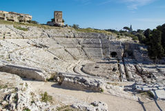 Theater in Syrakus, Sizilien Lizenzfreie Stockfotos