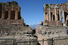 Theater of Taormina, Italy Royalty Free Stock Images