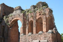 Theater of Taormina, Italy Stock Images