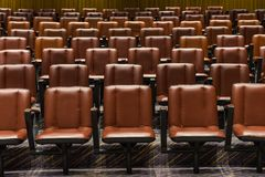 Theater. The theater chairs in concert hall royalty free stock photos