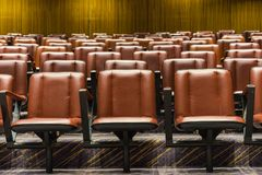 Theater. The theater chairs in concert hall royalty free stock photography