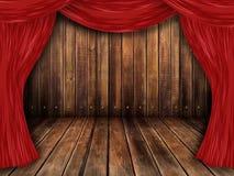 Theater, Theaterstufe Lizenzfreie Stockfotografie