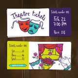 Theater Ticket Set Royalty Free Stock Photo