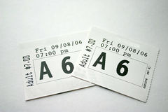 Theater Tickets Royalty Free Stock Photography
