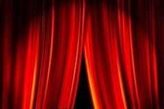 Theater-Trennvorhänge Lizenzfreies Stockfoto