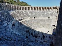 Theater van Aspendos stock afbeeldingen