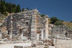 Theater van de Oude Stad van Ephesus Stock Foto
