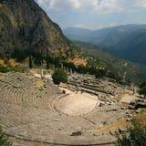 Theater van Delphi stock foto's
