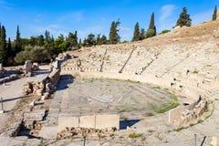 Theater van Dionysus, Akropolis stock afbeeldingen