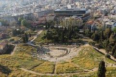 Theater van Dionysus, Athene, Griekenland Royalty-vrije Stock Fotografie