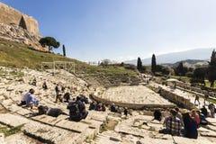 Theater van Dionysus, Athene royalty-vrije stock foto