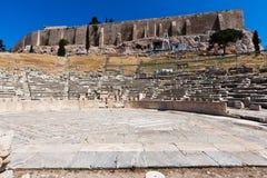 Theater van Dionysus Eleuthereus Athene stock afbeeldingen
