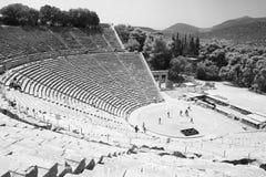 Theater van Epidavros, Griekenland Stock Foto's