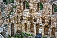 Theater van Herod, Akropolis Stock Fotografie