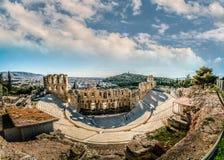 Theater van Herodes Atticus, Akropolis van Athene, Griekenland stock foto