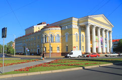 Theater van het Kaliningrad het Regionale Drama van de zomer in Juli Royalty-vrije Stock Fotografie