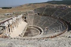 Theater van Hierapolis in Turkije stock afbeelding
