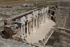 Theater van Hierapolis in Turkije stock fotografie