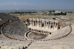 Theater van Hierapolis in Turkije royalty-vrije stock fotografie