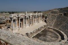 Theater van Hierapolis in Turkije royalty-vrije stock foto's