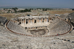 Theater van Hierapolis in Turkije royalty-vrije stock afbeeldingen
