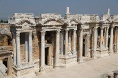 Theater van Hierapolis in Turkije royalty-vrije stock foto