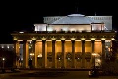 Theater van Opera en Balet. Nacht Stock Foto
