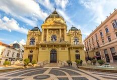 Theater van stad Pecs, Hongarije Royalty-vrije Stock Afbeeldingen