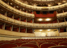 Theater view. Interior view of  Theater in Opera house  Vienna Royalty Free Stock Photo