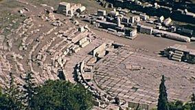 Theater von Dionysus stock footage
