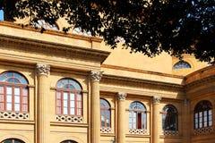 Theater von Palermo, Massimo, neoklassisch lizenzfreie stockfotos