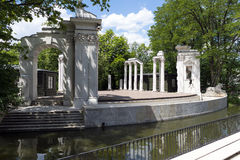 Theater on the water. Lazienki park - Royal Baths Park in Warsaw royalty free stock photography