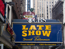 Theater where the Late Show with David Letterman is filmed Stock Photography