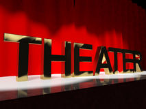 Theater Word On Stage Royalty Free Stock Photography
