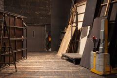 Theaterbergruimte stock foto