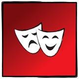 Theaterdrama deckt Vektorillutration ab Lizenzfreie Stockfotos