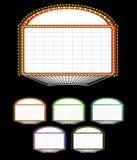 Theaterfestzeltzeichen Stockbild