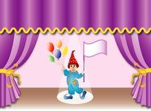 Theatergordijn met clown, eps Royalty-vrije Stock Foto's