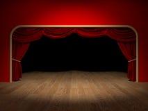 Theatergordijnen Royalty-vrije Stock Foto