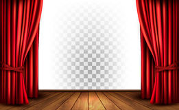 Theatergordijnen met een transparante achtergrond royalty-vrije illustratie