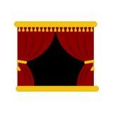 Theaterhauptvorhänge Stockfoto