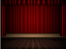 Theaterinnenraum Lizenzfreie Stockfotografie