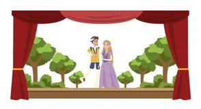 Theaterleistungsshow Lizenzfreies Stockbild