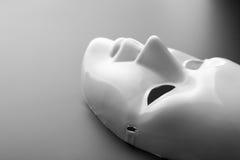 Theatermaske auf Grau Lizenzfreie Stockbilder